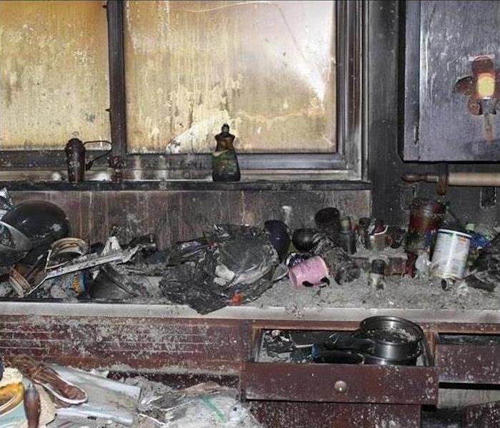 Kitchen Damaged By Fire Before