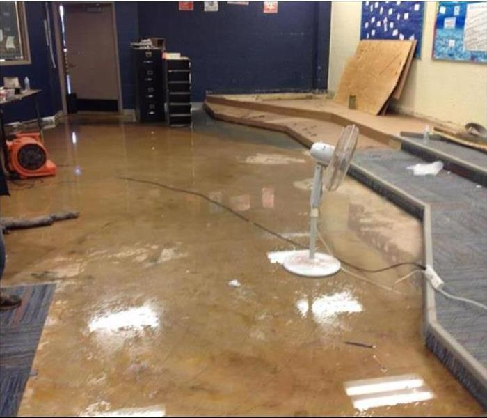 Large Water Loss in Band Room Before